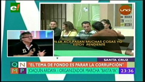 """Marcha en rechazo a la corrupción en el Fútbol boliviano dice: """"¡Basta Ya!"""""""