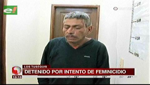 Sujeto es detenido por intento de feminicidio en Los Tusequis