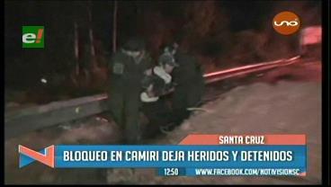 24 arrestados y 5 policías heridos tras el desbloqueo en Camiri