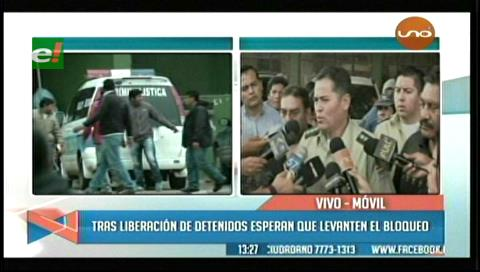 Ordenan liberación de los 26 detenidos en Camiri