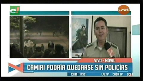 Comandante de la Policía denunció que un exconvicto de Palmasola lideró los enfrentamientos en Camiri