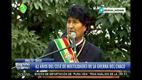 Morales dice que la nacionalización es un justo homenaje a los caídos en la 'Guerra del Chaco'