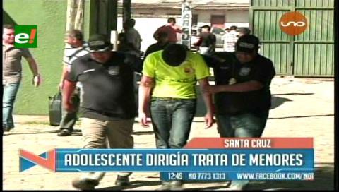 Adolescente es acusado de dirigir una organización de trata y tráfico de menores