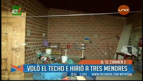 Cae un techo y lesiona a 3 niños, uno tiene 20 puntos en la cabeza