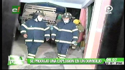Tres personas resultaron heridas tras una explosión en un domicilio