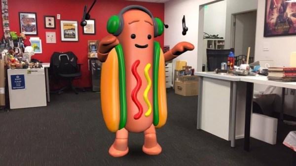 Snapchat ha hecho viral a un perrito caliente con el que puedes bailar