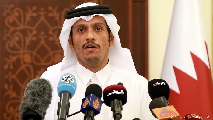Katar Außenminister (Getty Images/AFP/K. Jaafar)