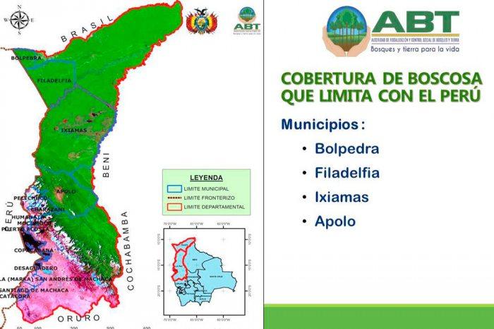 TERRITORIO BOSCOSO DE BOLIVIA QUE LIMITA CON EL PERÚ.