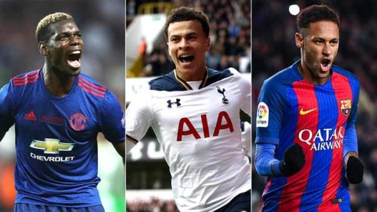 Paul Pogba, Dele Alli y Neymar, tres de los futbolistas más caros del planeta