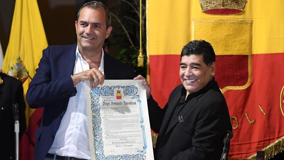 Maradona arremete contra quien lo acusó de pedir dinero para aceptar ciudadanía honorífica napolitana