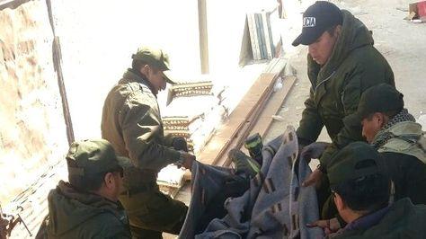 Efectivos de la Policía realizaron el levantamiento de los cadáveres.