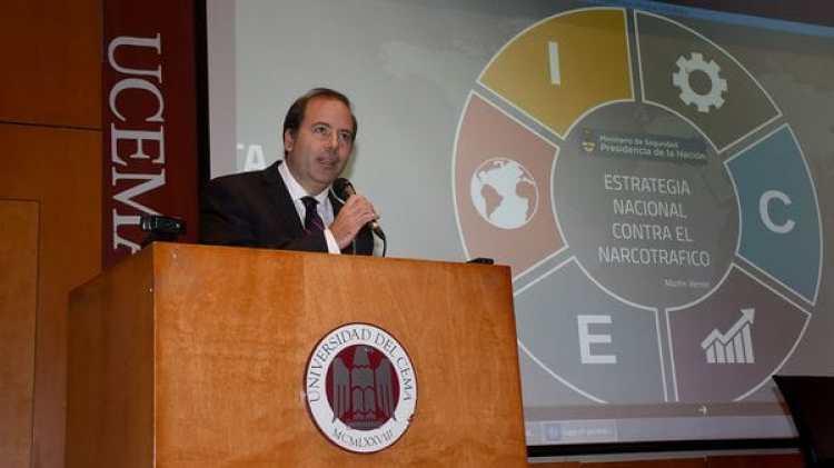 El experto argentino en narcotráfico y graduado del centro George C. Marshall de estudios sobre seguridad, Martín Verrier (Nicolas Stulberg)