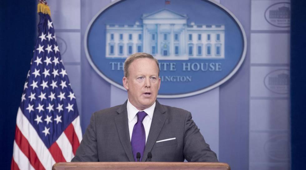 El portavoz de la Casa Blanca, Sean Spicer, este lunes.