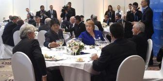 La Cumbre del Mercosur juntó en un almuerzo a Bachelet y Morales