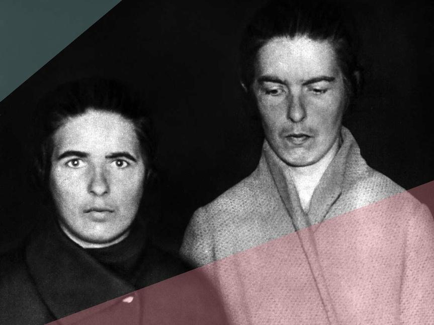 Lea y Christine Papin en una imagen publicada en la prensa francesa con motivo del asesinato.