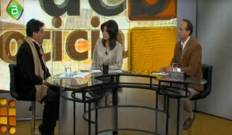 El ministro César Cocarido durante una entrevista con los medios estatales este domingo 23 de julio.
