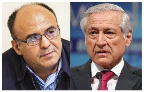 El ministro de Defensa, Reymi Ferreira, y el canciller chileno Heraldo Muñoz.