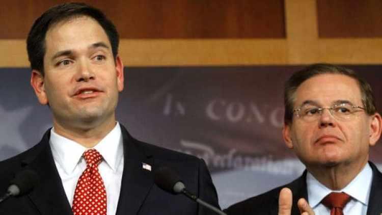 Marco Rubio (republicano) y Bob Menéndez (demócrata)