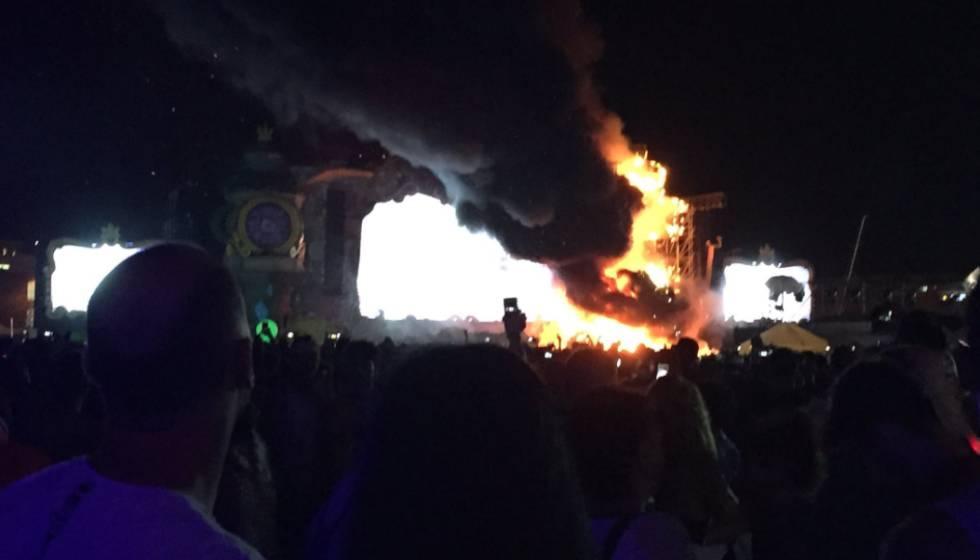 Cancelan 'Tomorrowland' de Barcelona por incendio
