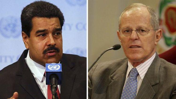 El presidente venezolano Nicolás Maduro y su par peruano Pedro Pablo Kuczynski