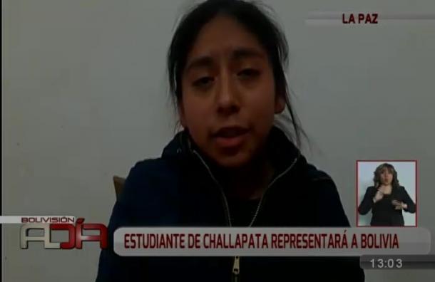 De Challapata a Portugal: Estudiante participará en Olimpiadas Iberoamericanas de Biología