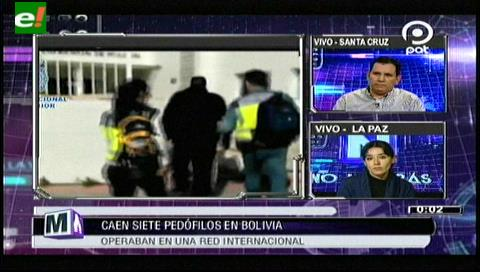 Caen 7 pedófilos en Bolivia que operaban en una red Internacional
