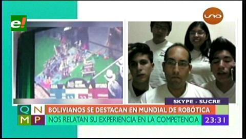 Equipo de jóvenes bolivianos se destacó en Mundial de Robótica