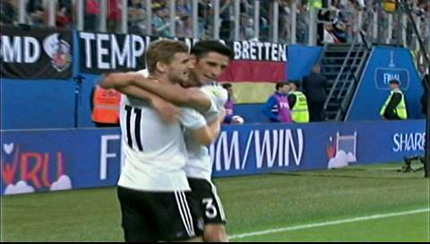 Alemania derrota a Chile 1-0 y gana la Copa Confederaciones