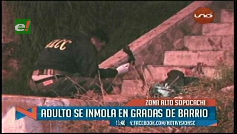 Tragedia en La Paz: Un minero se inmola en Sopocachi, se presume causas emocionales