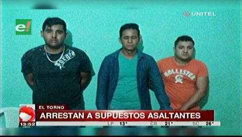 Detienen a tres supuestos atracadores en El Torno
