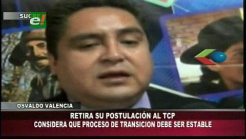 Oswaldo Valencia retira postulación a magistrado