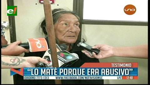 """Anciana que asesinó a su pareja: """"Lo maté porque me agredía"""""""