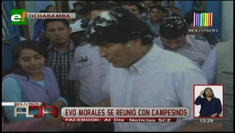 Cochabamba: Evo Morales se reunió con campesinos