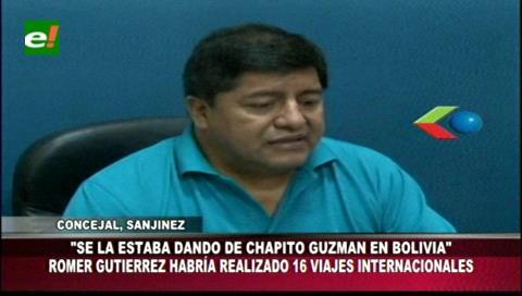 Concejal Sanjinés dice que exasesor del MAS se la daba de 'Chapito Guzmán' boliviano