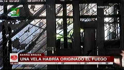 Incendio consumió cuatro habitaciones de una vivienda del barrio Brígida