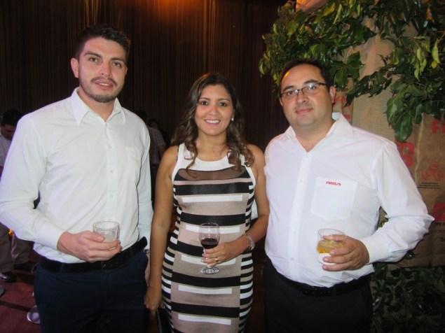 Sergio Mendoza Erika Aviles y Sergio Cruz