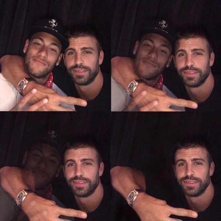 """Piqué había publicado un fotografía con Neymar con el lema """"se queda"""", pero el brasileño finalmente desapareció"""
