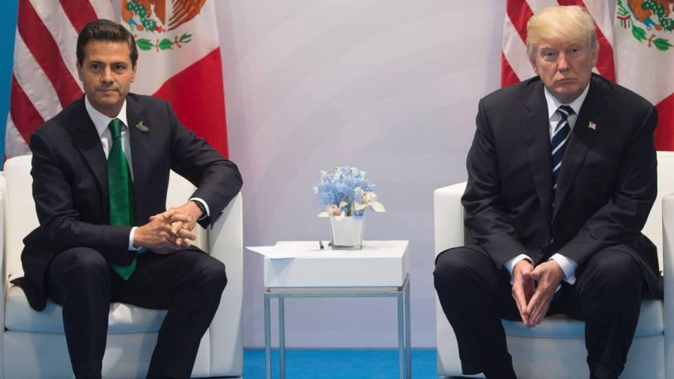 Peña Nieto y Trump, en julio en Alemania