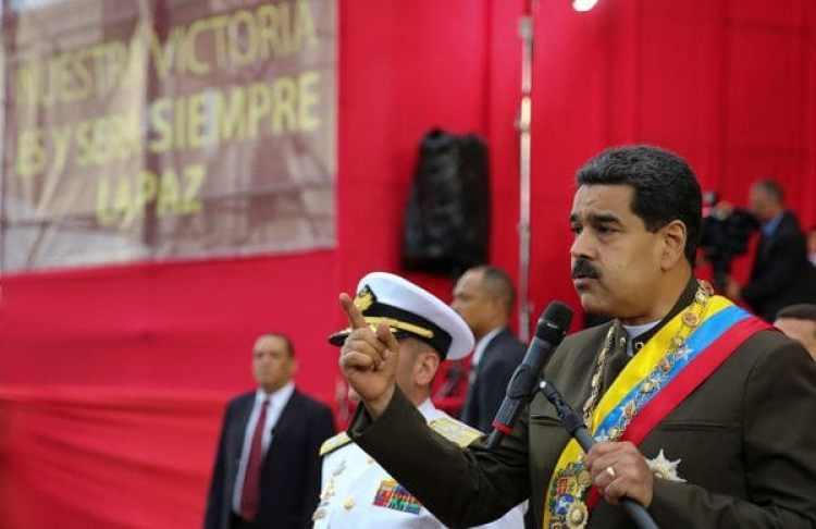 Nicolás Maduro durante la celebración de los 80 años de la Guardia Nacional Bolivariana.