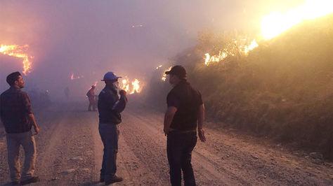 Imágenes del incendio en la Reserva de Sama – Tarija. Foto: Gobernación de Tarija