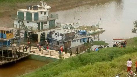 La embarcación Kenko Go, donada por el gobierno del Japón a la Gobernación del Beni.