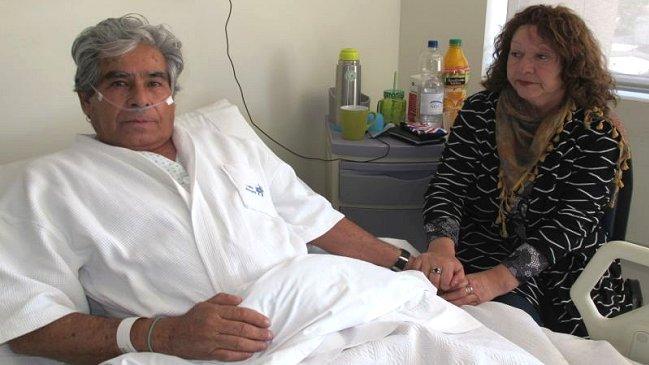 Minero Mario Gómez depende de oxígeno para vivir