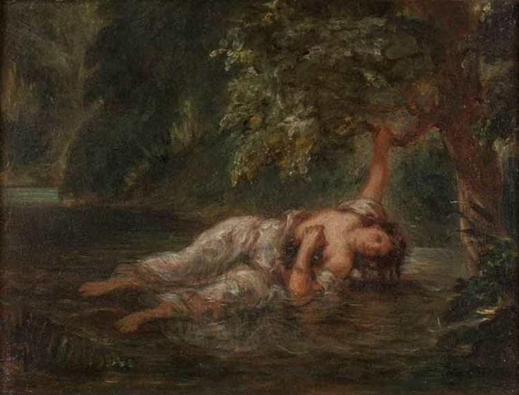 Eugène Delacroix. 1798-1863. Paris. La mort d'Ophélie. 1838. Munich Neue Pinakothek. Imagen: Jean Louis Mazieres/Flickr