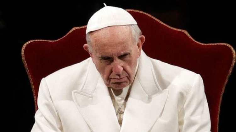 El papa Francisco durante la Via Crucis (AP/archivo)