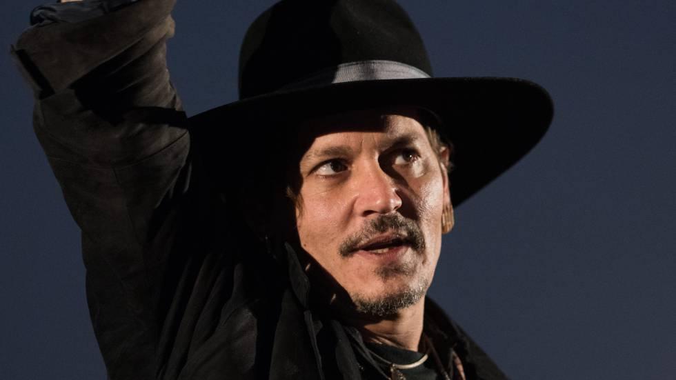 Johnny Depp, en el festival de Glastonbury.