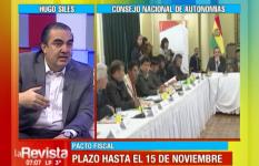 Viceministro Siles reconoce que no se cumplió el cronograma del Pacto Fiscal