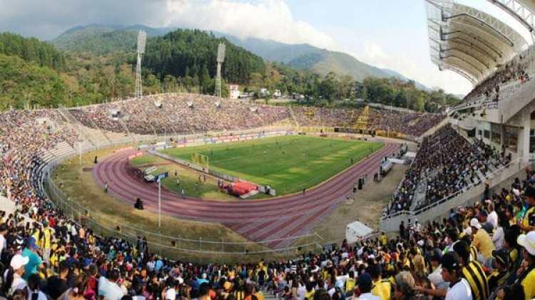 El estadio del Polideportivo de Pueblo Nuevo