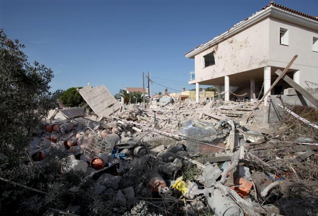 Restos de la casa de Alcanar tras la explosión