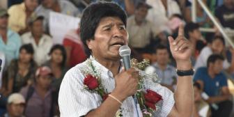 """Evo: """"Defender a Maduro es como defender a Simón Bolívar"""""""