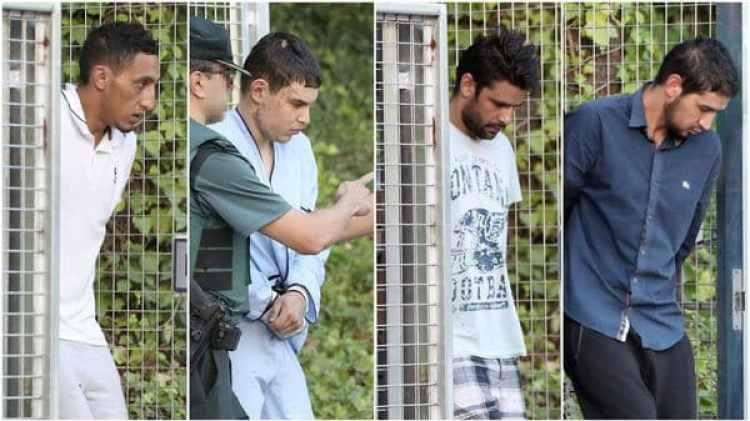 Los cuatro terroristas que fueron capturados vivos llegaron el martes a la Audiencia Nacional de Madrid (EFE)